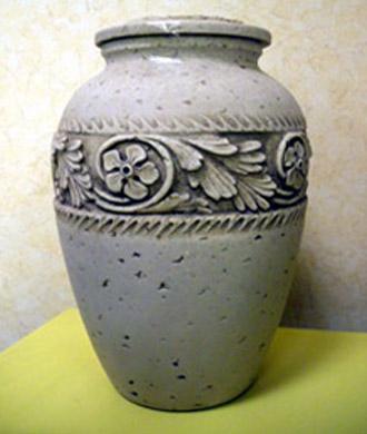 urne à centre à déposer dans un crematorium